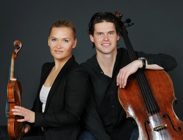 Promotional photo of siblings Mari and Hkon Samuelsen, superb young musicians and organizers of this annual event