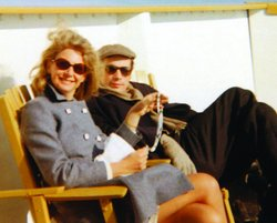 "Cornelia Foss and Glenn Gould on the cruise ship ""The R.M.S. Segwun"". Lake Muskoka, Ontario, June, 1968"