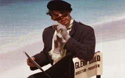 Frame from previously unseen short film Virtues of Hesitation starring Gould (pictured). Nassau, Bahamas, 1956