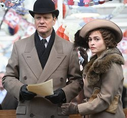 "Colin Firth and Helena Bonham-Carter in ""The King's Speech,"" which opens in San Diego this weekend."