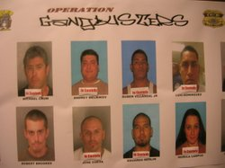 Several of those arrested Dec. 15 by police agencies across the county.