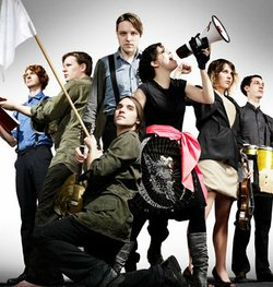 The members of the band Arcade Fire, whose album &quot;The Suburbs&quot; was chosen by Dave Walters as one of the top five album releases of the year. 