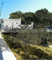 Rendering of the proposed by-pass road around the Museum of Man in Balboa Park.