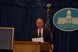 Gov. Jerry Brown announced his state budget plan on Monday, Jan. 10, 2011. The state faces a $25 billion budget gap.