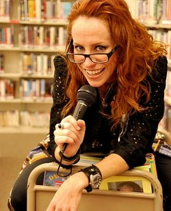 "Stand-up comedian Meredith Myers is part of a new group of young librarians who are busting stereotypes about who is a ""typical librarian."""