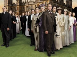 "Promotional photo of the cast from ""Downton Abbey."""