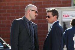 Corey Stoll (L) and Skeet Ulrich as LAPD detectives