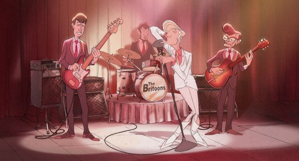 "The Beatles-like pop band in ""The Illusionist."""