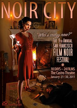 Poster for the Noir City film festival in San Francisco.