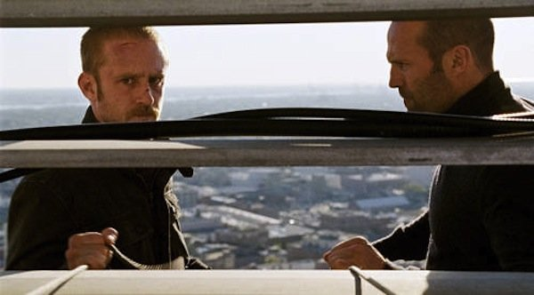 "Ben Foster and Jason Statham as student and teacher in ""The Mechanic."""