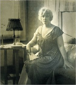 Cissy Chandler, wife of detective novelist Raymond Chandler. Cissy lied about her age when they married. She said she was only 10 years older but she was actually 18 years his senior. 