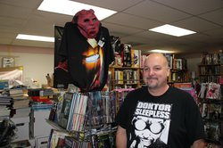 Robert Scott is the manager of Comickaze Comics, Books and More in the Clairemont neighborhood of San Diego, February 16, 2011. 