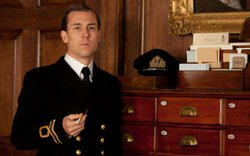 "Tobias Menzies as Ian Fleming in ""Any Human Heart."""