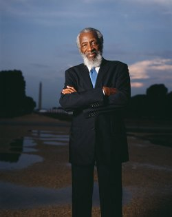 Dick Gregory, comedian and civil rights activist, will be speaking in San Diego on Wednesday, Feb. 23, 2011 at 7 p.m. at USD&#39;s Joan B. Kroc Institute for Peace &amp; Justice Theatre. 