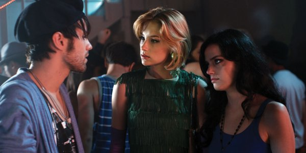 "Thomas Dekker as Smith, Haley Bennett as Stella and Roxane Mesquida as Lorelei in ""Kaboom."""