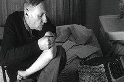 William S. Burroughs shooting heroin.