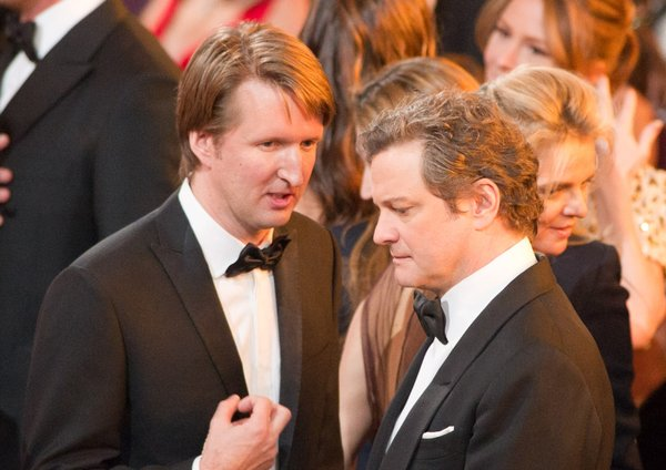 Does anyone else think Tom Hooper (here with Colin Firth) looks like James Cameron?