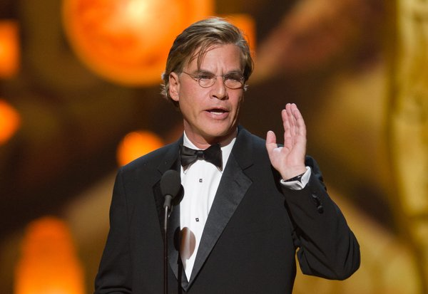 Best Adapted Screenplay winner Aaron Sorkin.