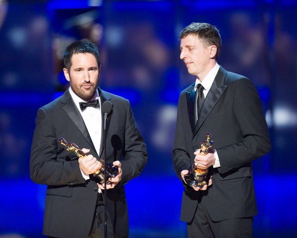 Best Original Score winners Trent Reznor and Atticus Ross.