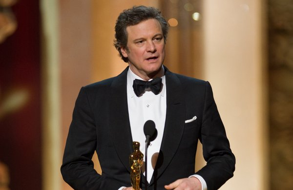 Best Actor winner Colin Firth.