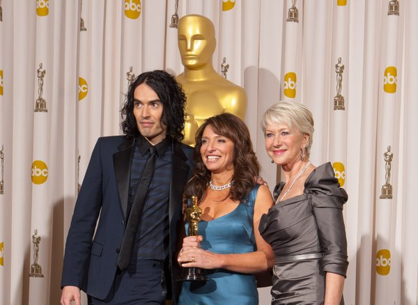 Russell Brand, Best Foreign Film winner Susanne Bier, and Helen Mirren.