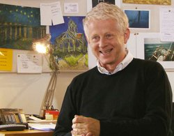 "Richard Curtis, creator of the British sitcom ""The Vicar of Dibley"""