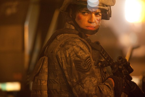 "Michelle Rodriguez in ""Battle: Los Angeles."""