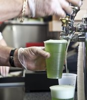 Plenty of green beer was served at Viejas Arena during the televised game.