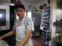 Emeterio Rodriguez is a 21 year-old cook at Grandma's; he's a native of Michoacan, Mexico.