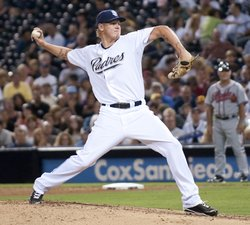 Hopes were high for starting Pitcher Mat Latos this season, but the Padres' Ace has struggled this year with a 2-6 record and a 4.08 ERA.