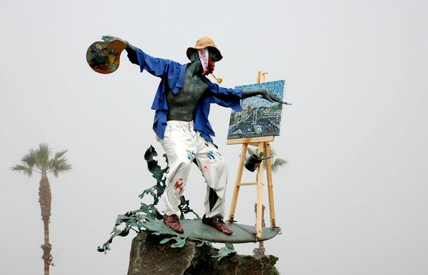 The Cardiff Kook as artist Vincent Van Gogh on the occasion of Van Gogh's birthday.