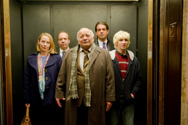 Amy Ryan, Paul Giamatti, Burt Young, Bobby Cannavale and Alex Shaffer in &quot;Win Win.&quot;
