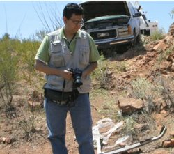 Luis Najera, based in Ciudad Juarez and who covered drug hot-spots along the U.S.-Mexico border, fled Mexico three years ago.