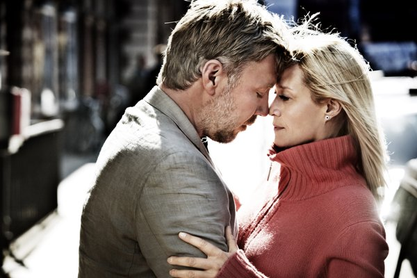 "Anton (Mikael Persbrandt) tries to fix things up with his estranged wife Marianne (Trine Dyrholm) in ""In a Better World."""