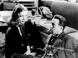 "Lauren Bacall and Humphrey Bogart in the 1946 noir film ""The Big Sleep."""