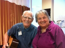 Leroy Easterly and daughter Julie Gallegos at St. Paul's PACE in San Diego.