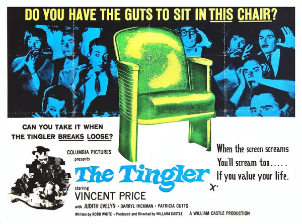 "They just don't make movie posters like they used to! Here's on from ""The Tingler."""