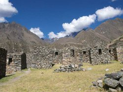 View of the Patallacta archeological site in Peru.