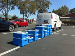 Meals on Wheels Truck at Clairemont distribution point.