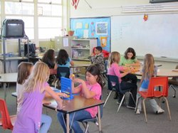 Santa Margarita Elementary School students in Oceanside spend recess in the school&#39;s information Lunch and Recess Options room instead of out on the more volatile playground. 