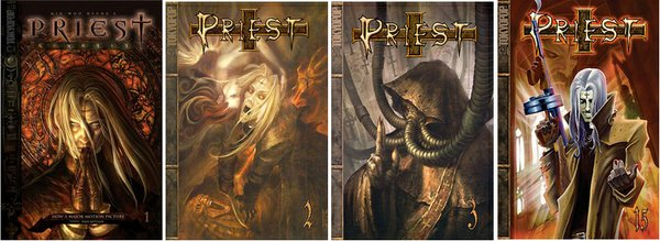 A sample of cover art from the manhwa &quot;Priest.&quot;