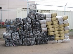 A cache of marijuana seized from the drug trafficking organization led by Roberto Hernandez.