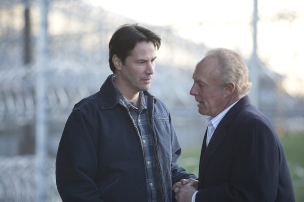 "Keanu Reeves and James Caan as partners in crime in "":Henry's Crime."""