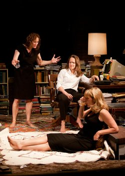 (from left) Angela Reed as Barbara Fordham, Carla Harting as Ivy Weston and Kelly McAndrew as Karen Weston in Tracy Letts&#39; Pulitzer Prize-winning play &quot;August: Osage County.&quot;