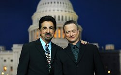 Tony Award-winner Joe Mantegna and Emmy Award-winner Gary Sinise, co-hosts of the &quot;National Memorial Day Concert&quot;