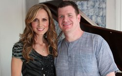 "Country music star Chely Wright and ""OUT In America"" producer Andrew Goldberg"