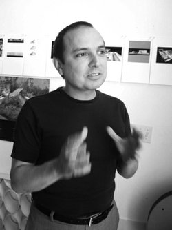 Teddy Cruz created Political Equator 3. He is an architect and professor of visual arts at UCSD.