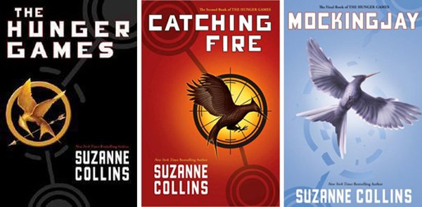 """The Hunger Games"" books from Scholastic."