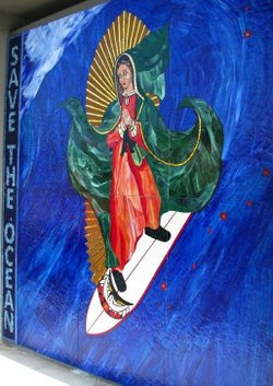 The Surfing Madonna in Encinitas