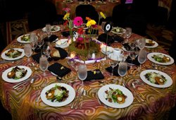 "Preset table at the 2010 gala, ""KPBS Celebrates the Sixties"""